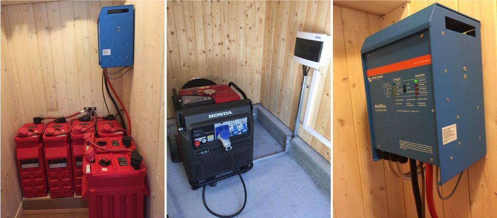 Installasjon av solcelleanlegg med batteribank og inverter