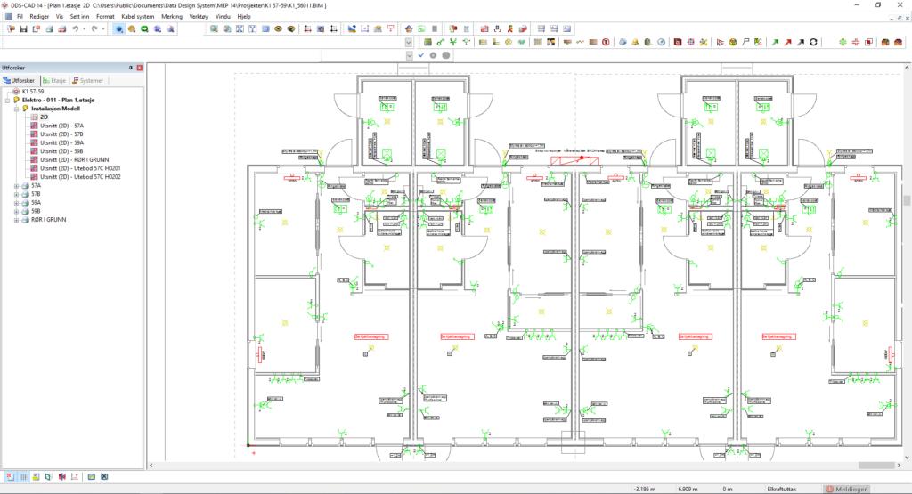 Illustrasjon prosjektering CAD